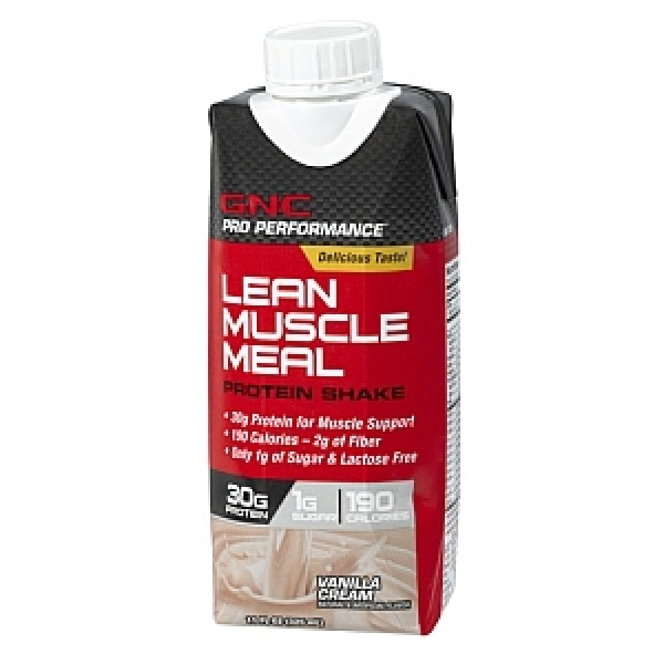GNC Pro Performance Lean Muscle Meal Shake Proteic-Vanilie 325 ml
