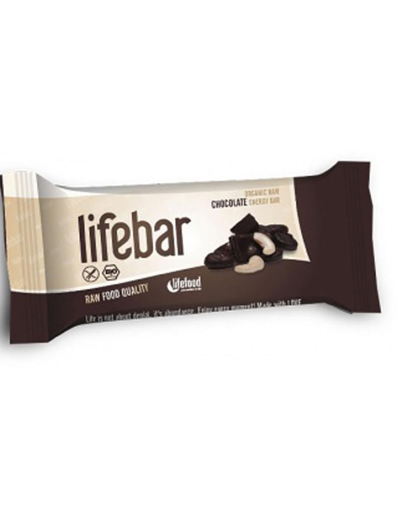 Lifebar baton cu ciocolată raw bio 47 g