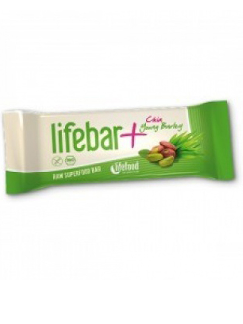 Lifebar Plus baton cu chia și orz verde raw bio 47g