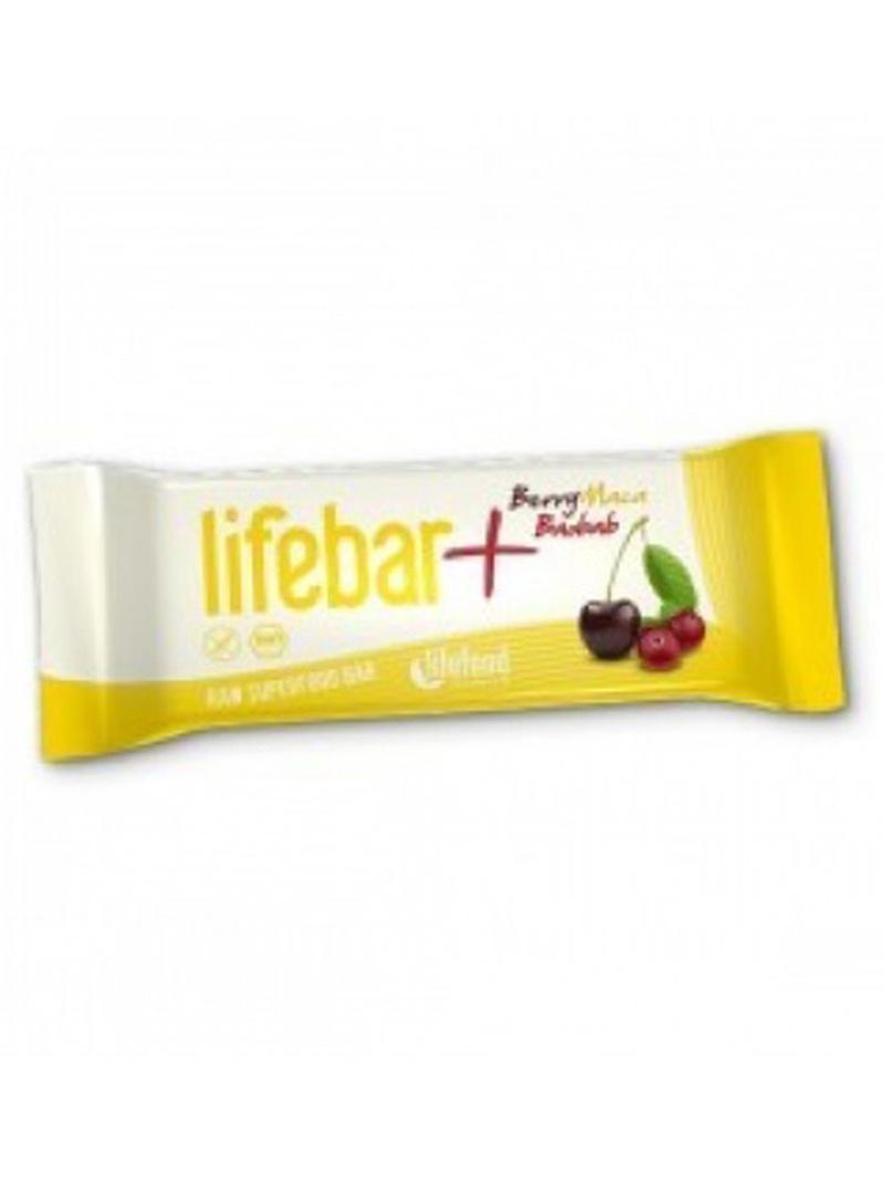 Lifebar Plus baton cu fructe, maca și baobab raw bio 47g