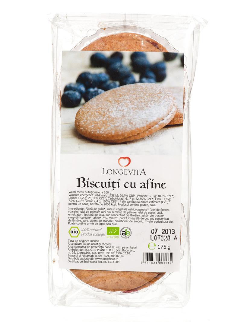Biscuiti cu crema de afine BIO Longevita 175 g