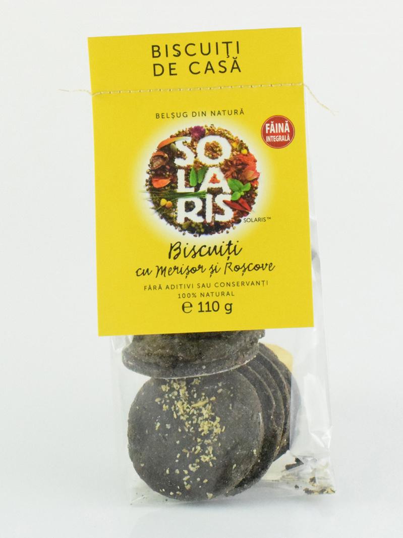 Biscuiti cu merisor si roscove Solaris 110 g