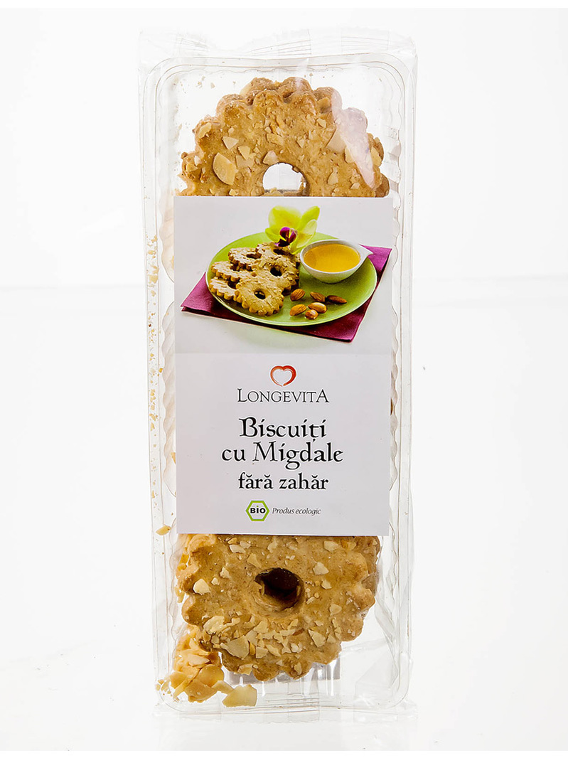 Biscuiti cu migdale fara zahar BIO Longevita 125 g