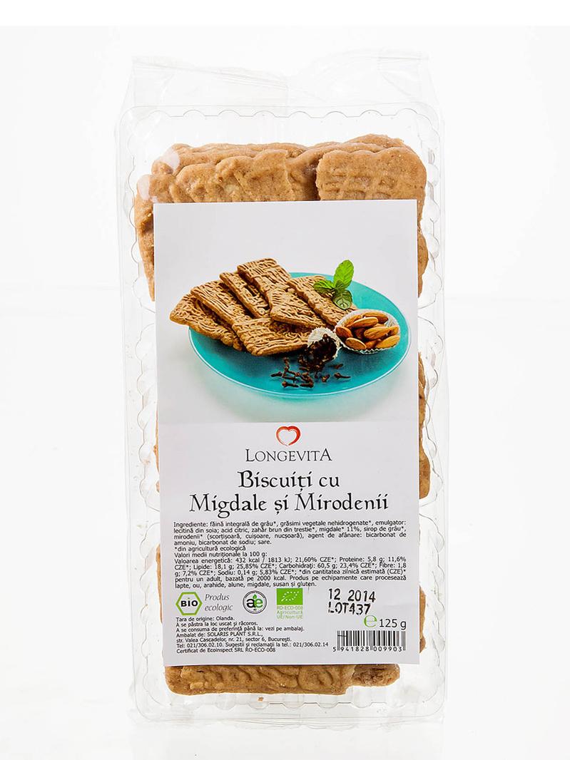 Biscuiti cu migdale si mirodenii BIO Longevita 125 g