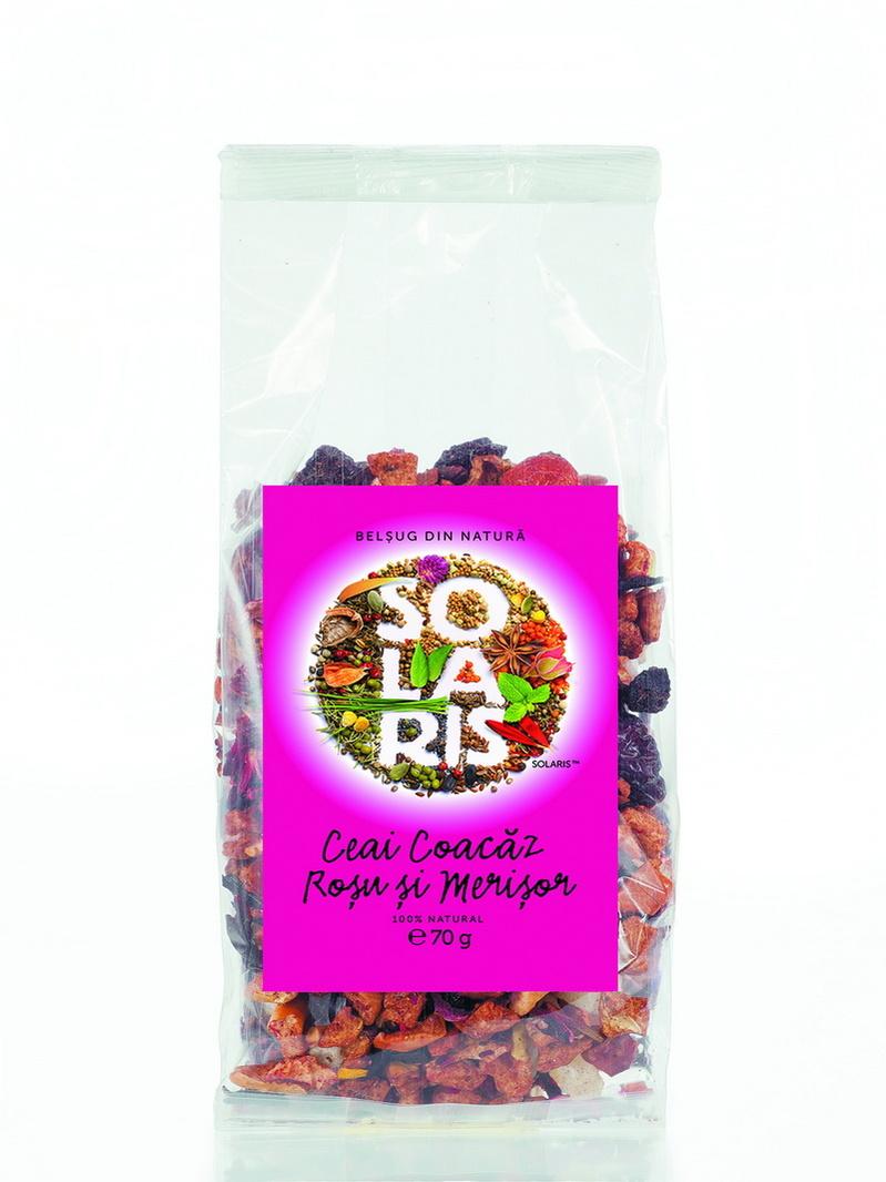 Ceai coacaz rosu si merisor Solaris 70 g