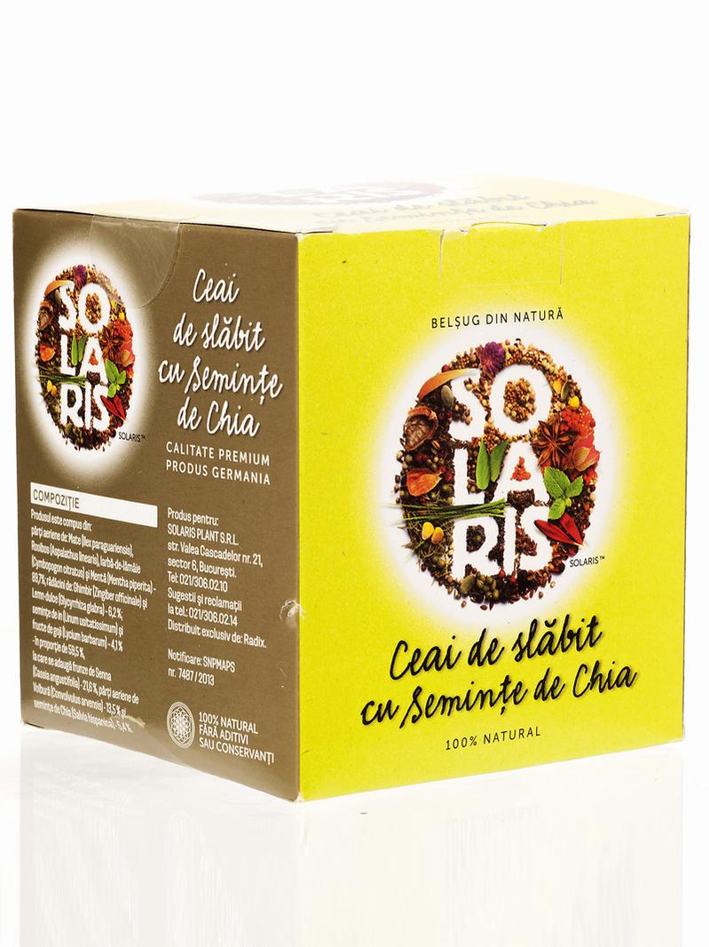 Ceai de slabit cu seminte de chia Solaris 2 g x 20 doze