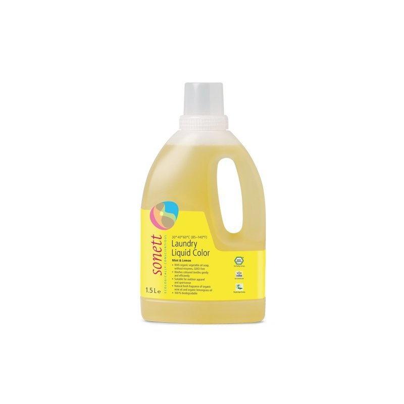 Detergent ecologic lichid pt. rufe colorate 1.5L Sonett