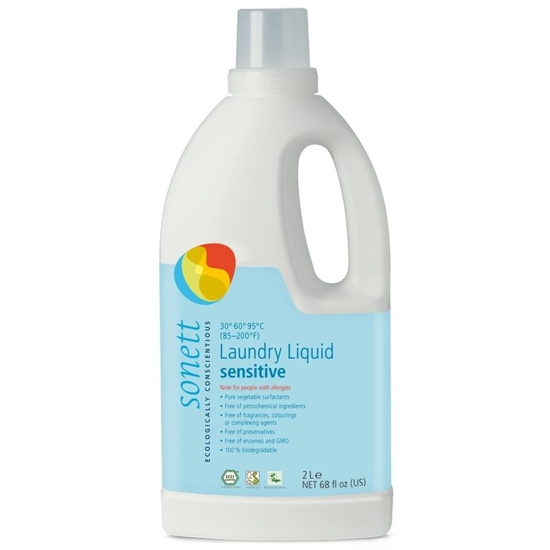 Detergent ecologic pt. rufe albe si colorate, SENSITIVE 2L, Sonett