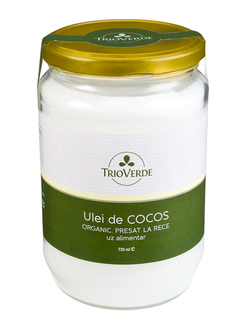 Ulei de cocos alimentar Trio Verde 720 ml