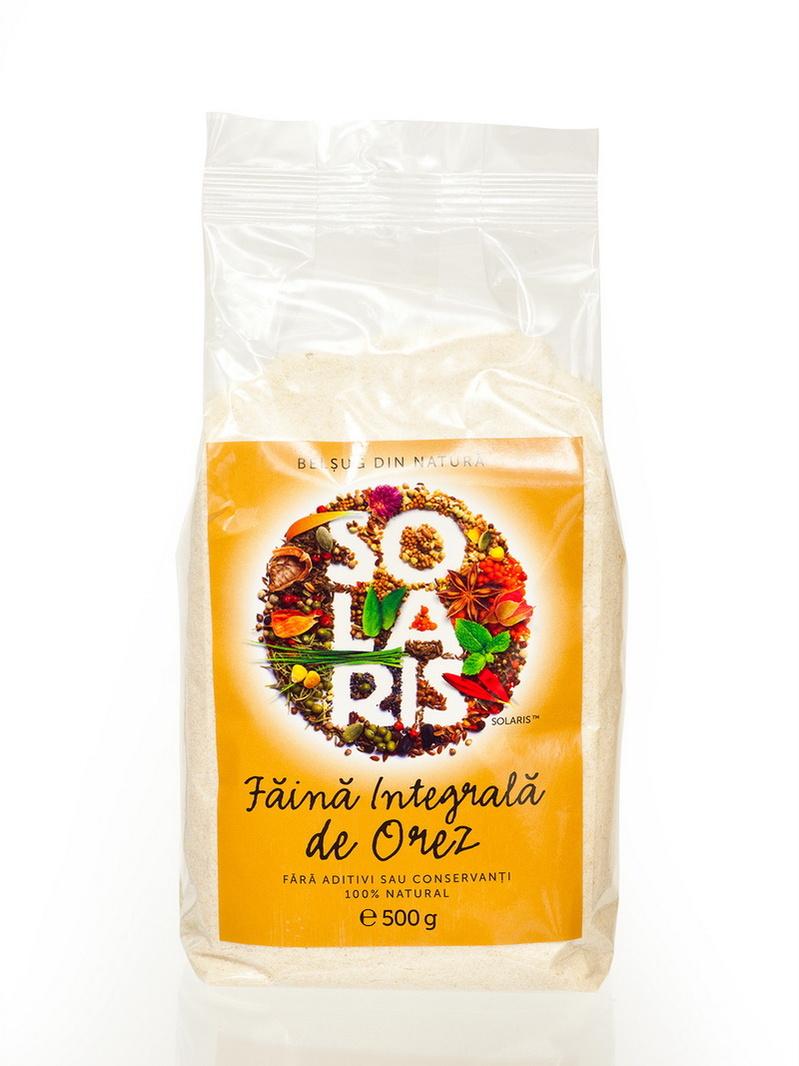 Faina integrala de orez Solaris 500 g