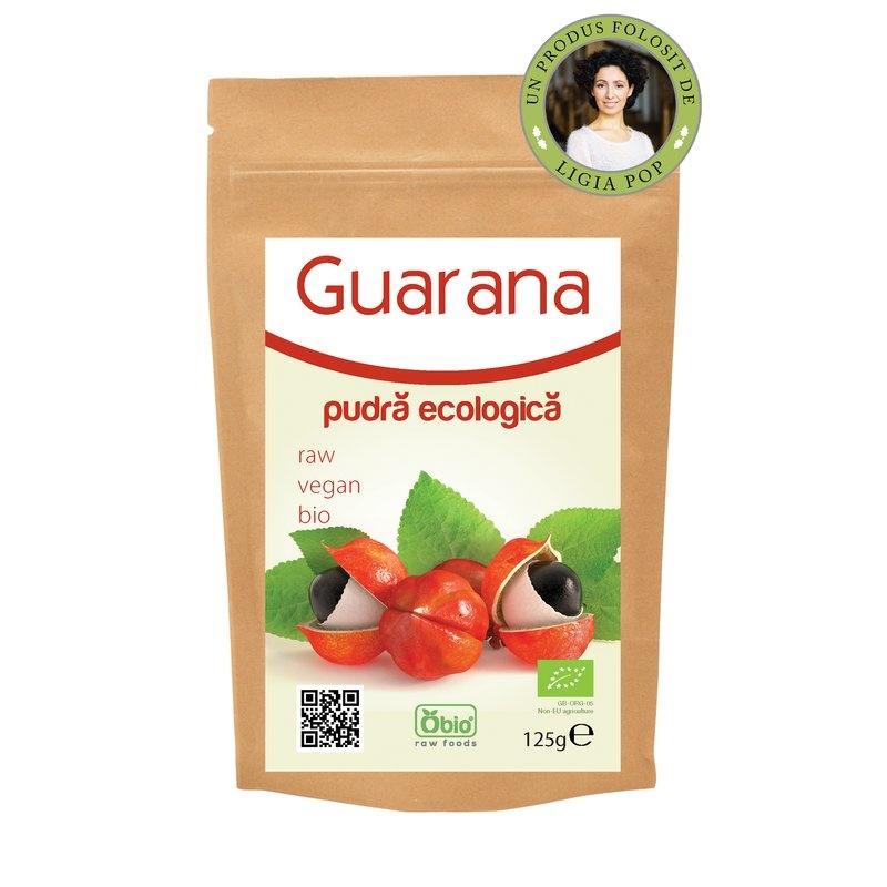 Pudra de guarana raw bio 125g
