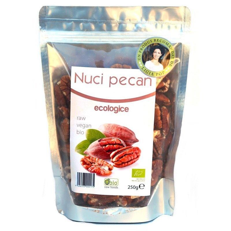 Nuci Pecan Raw Organice 250g PROMO