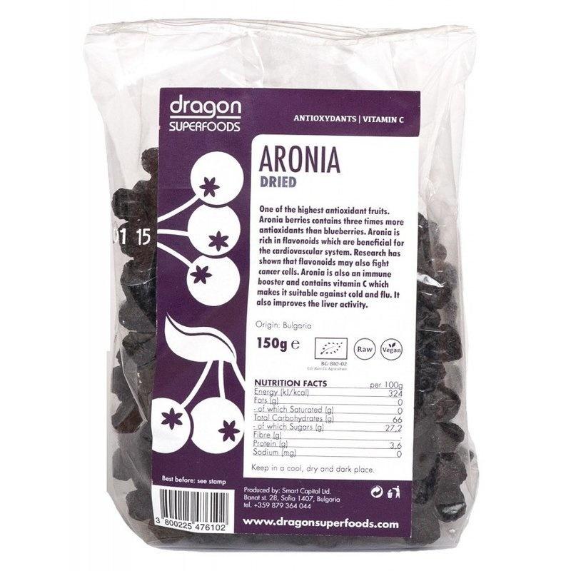 Aronia fructe uscate bio 150g DS