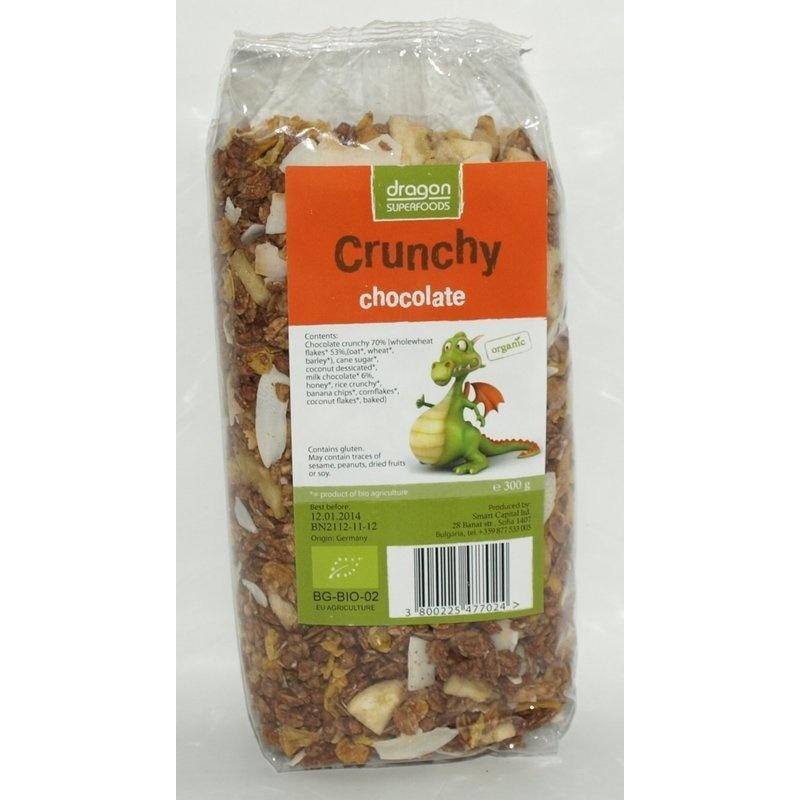 Crunchy cu ciocolata bio 300g