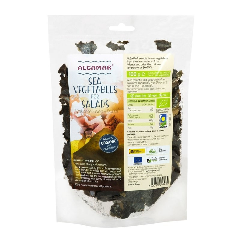 Mix alge pentru salate raw bio 100g