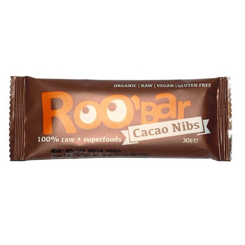Baton raw bio cu miez de cacao si migdale 30g PROMO