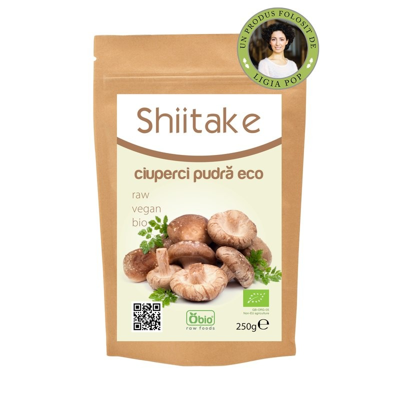 Shiitake pulbere raw bio 250g PROMO