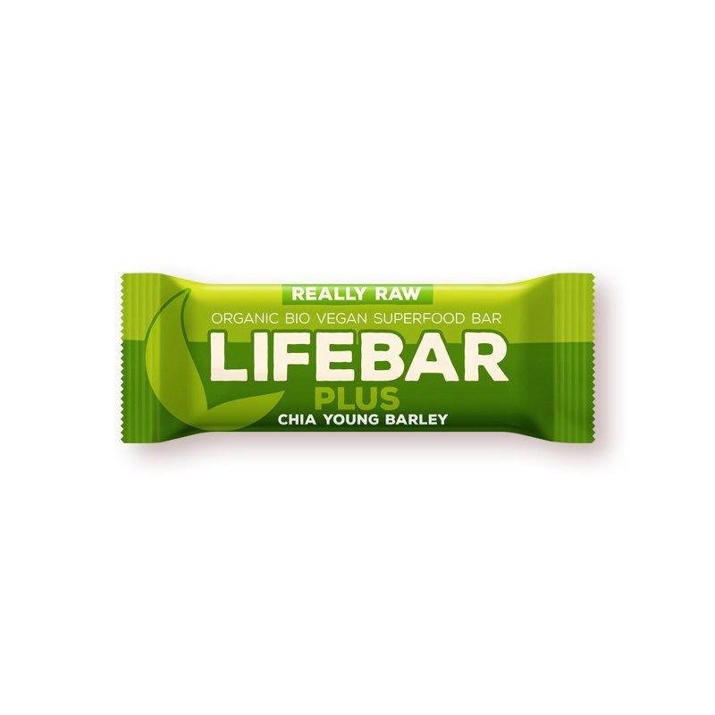 Lifebar Plus baton cu chia si orz verde raw bio 47g