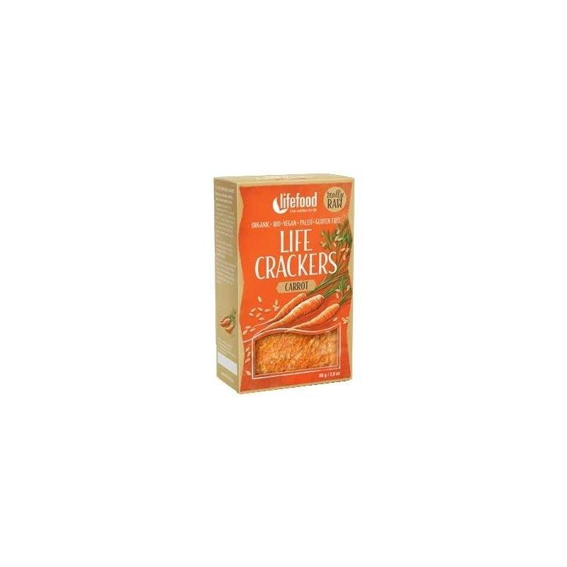 Lifecrackers cu morcovi raw bio 80g Lifefood