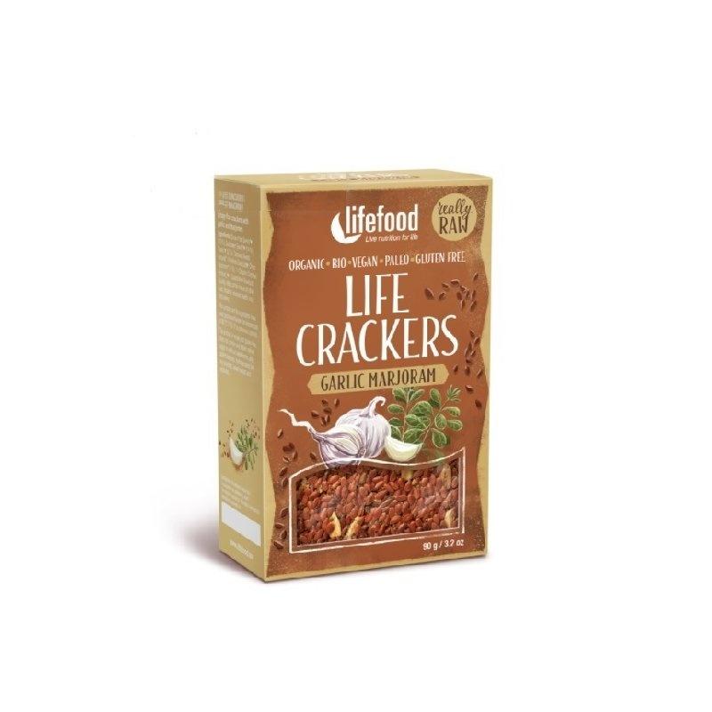 Lifecrackers cu usturoi si maghiran raw bio 90g Lifefood PROMO