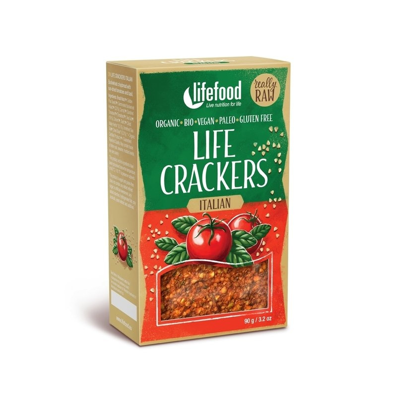 Lifecrackers italian raw bio 90g Lifefood