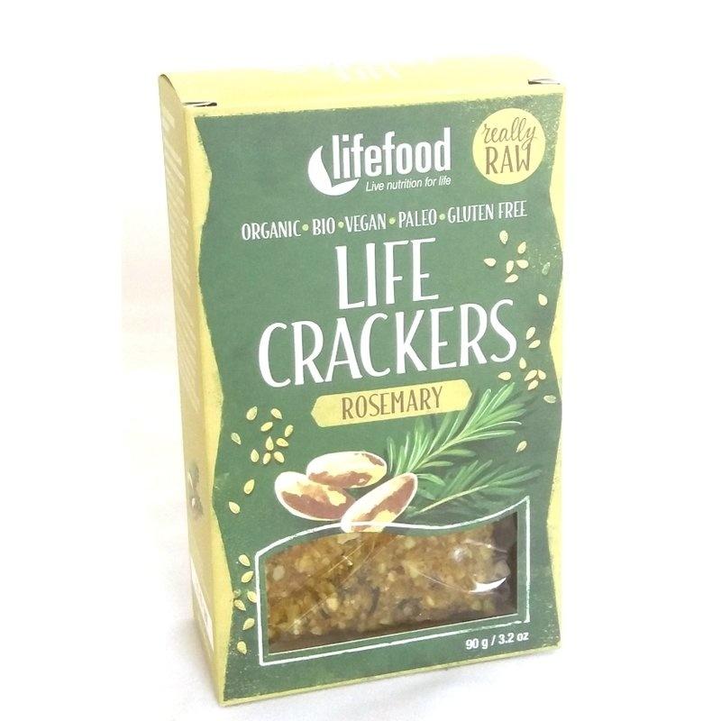 Lifecrackers cu rozmarin raw bio 90g Lifefood