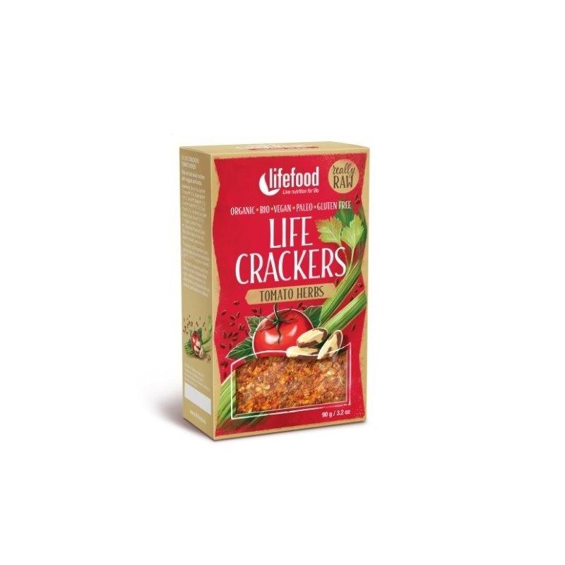 Life crackers raw cu rosii si ierburi bio 90g Lifefood