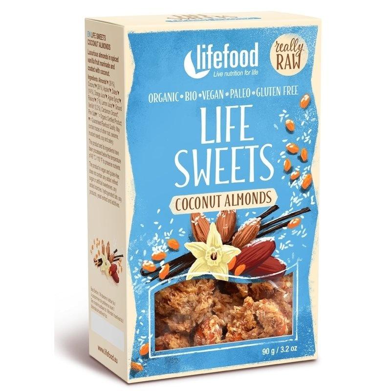 Life Sweets migdale cu cocos si vanilie raw bio 90g