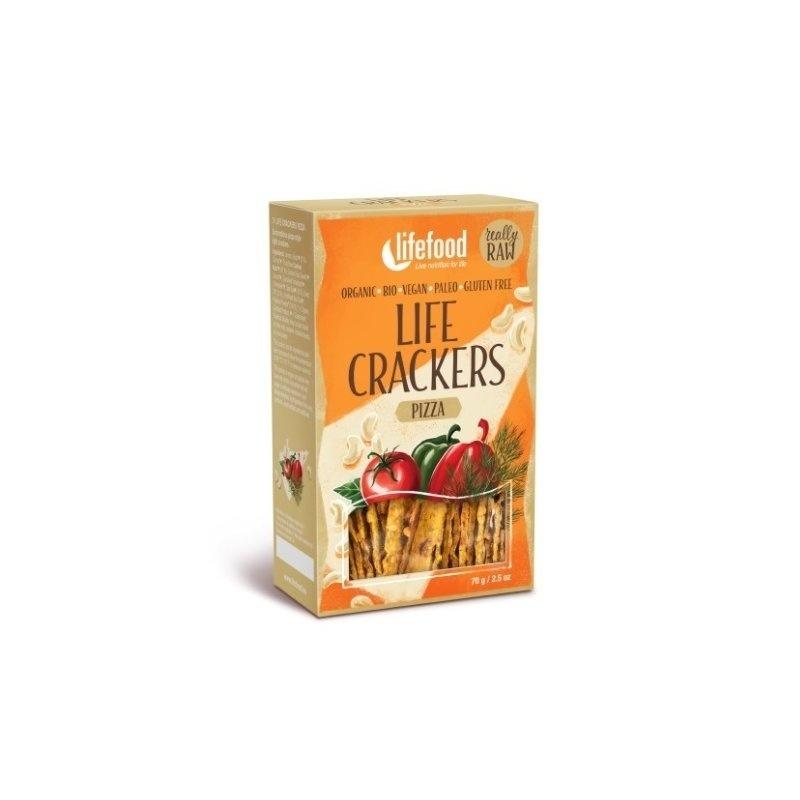 Lifecrackers pizza raw bio 70g