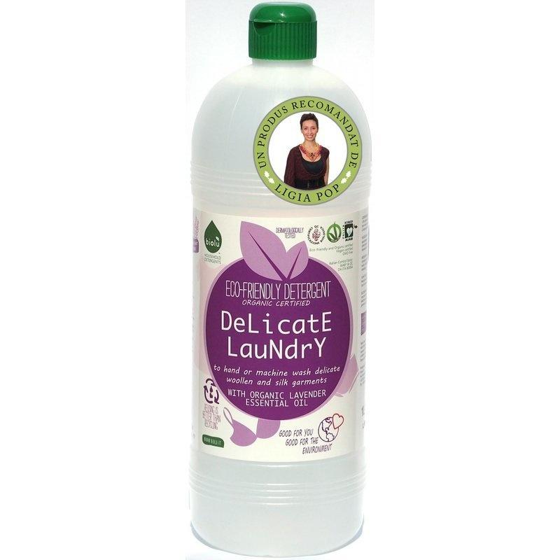 Detergent ecologic lichid pentru rufe delicate 1L Biolu