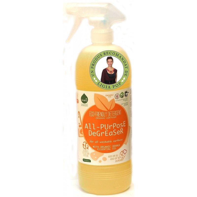 Detergent ecologic universal cu ulei de portocale 1L Biolu
