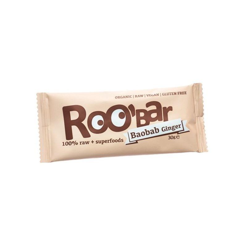 Baton raw bio cu baobab si ghimbir 30g