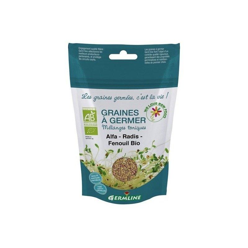 Mix fitness alfalfa, ridiche, fenicul pt. germinat bio 150g Germline