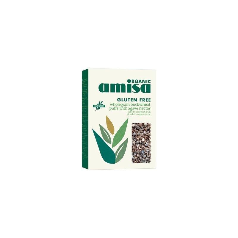 Hrisca integrala expandata cu sirop de agave fara gluten bio 225g PROMO