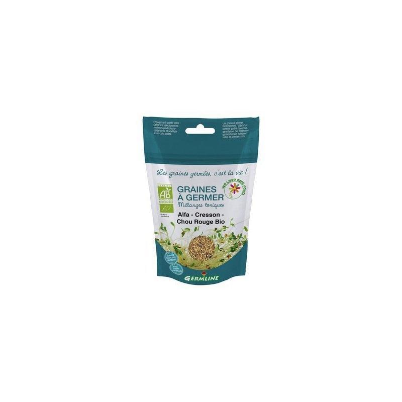 Mix alfalfa creson si varza rosie pt. germinat bio 150g Germline