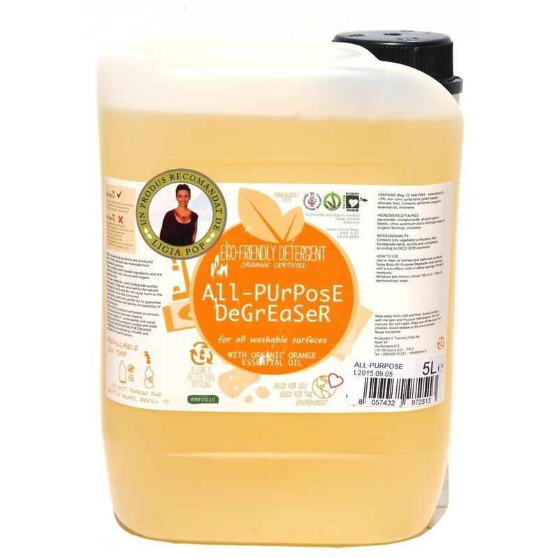 Detergent ecologic universal cu ulei de portocale 5L Biolu