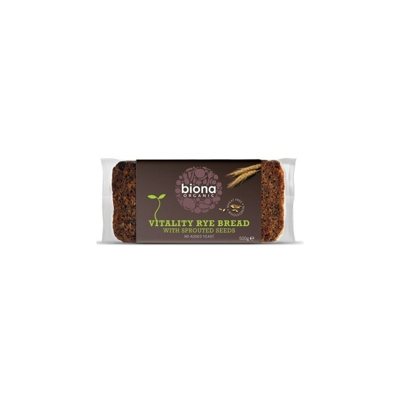 Paine integrala de secara Vitality cu seminte germinate bio 500g PROMO