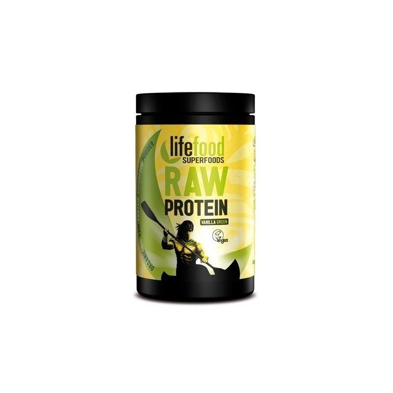 Pudra proteica Green Vanilla Superfood raw bio 450g Lifefood