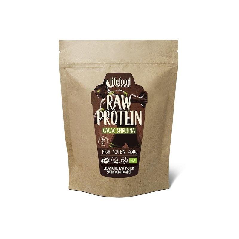 Pudra proteica Cacao Spirulina Superfood raw bio 450g Lifefood