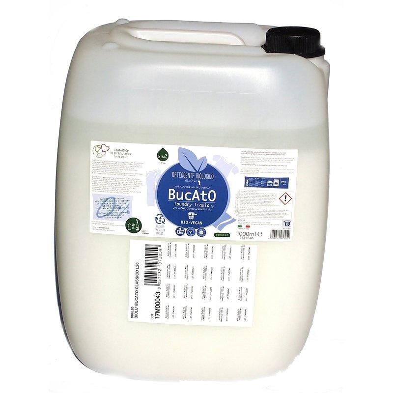 Detergent ecologic lichid vrac pentru rufe albe si colorate lamaie 20L Biolu