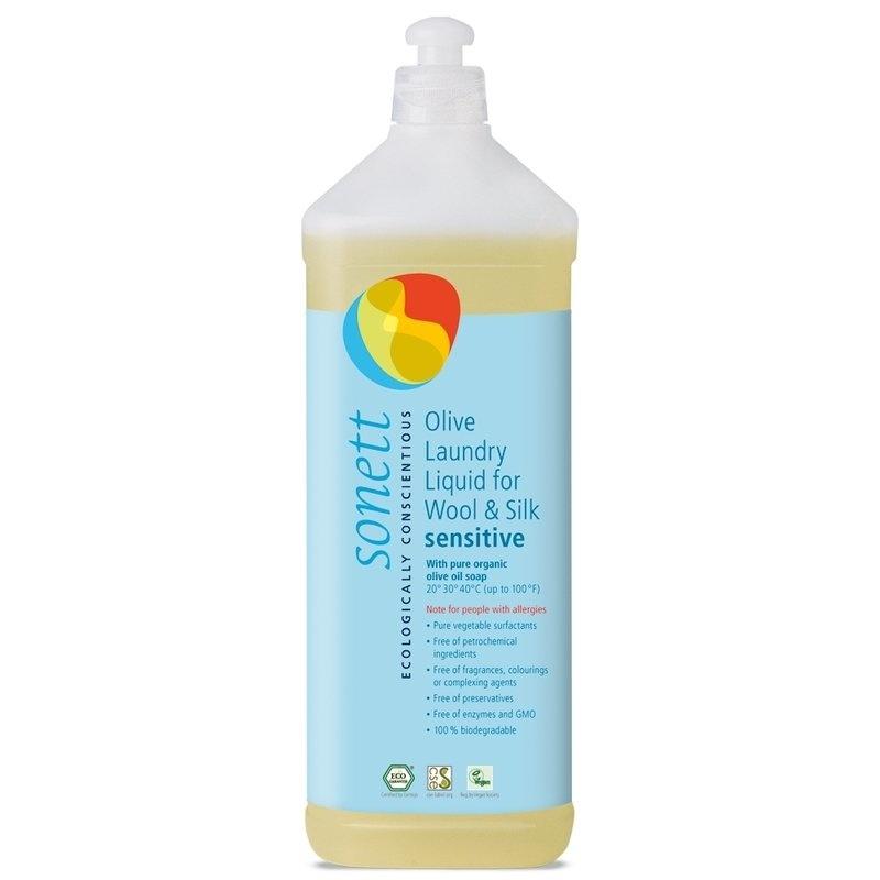 Detergent ecologic lichid pt. lana si matase SENSITIVE 1L, Sonett