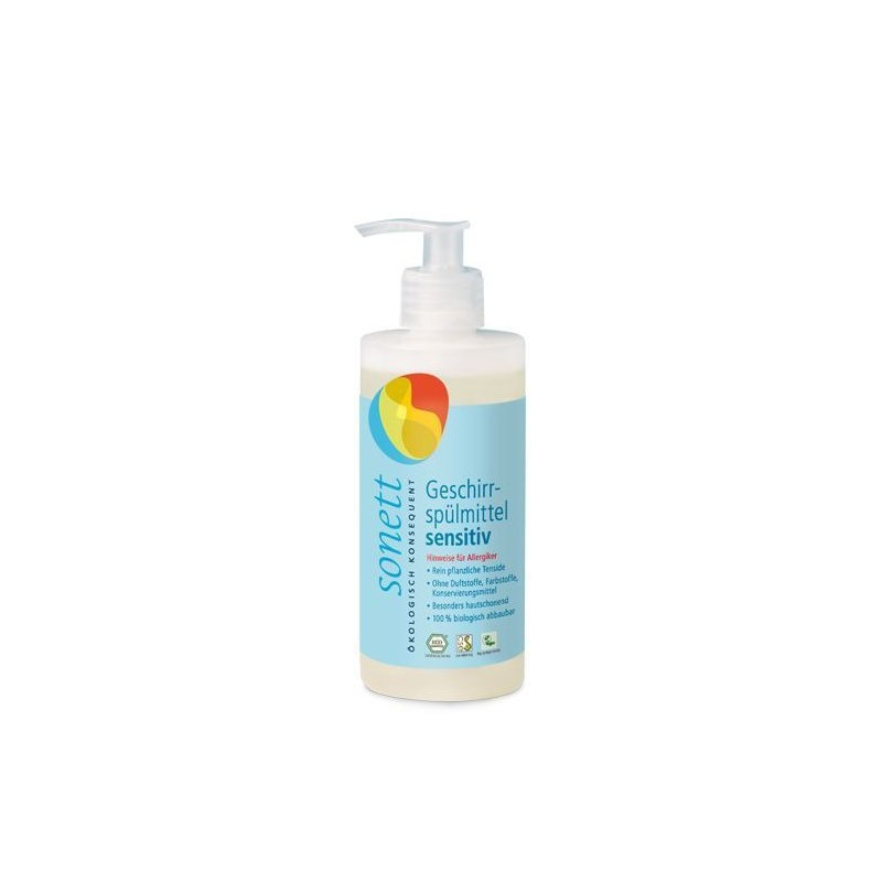 Detergent ecologic pt. spalat vase SENSITIVE, Sonett 300ml