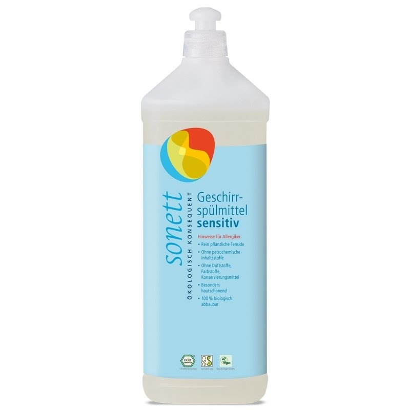 Detergent ecologic pt. spalat vase SENSITIVE, Sonett 1L