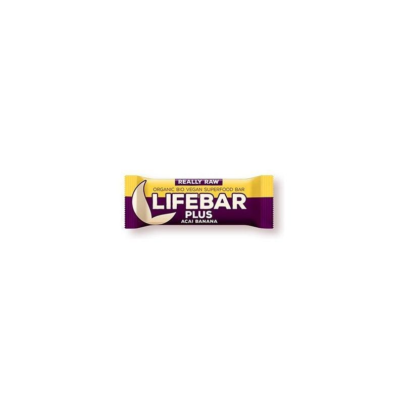 Lifebar Plus baton cu acai si banane raw bio 47g