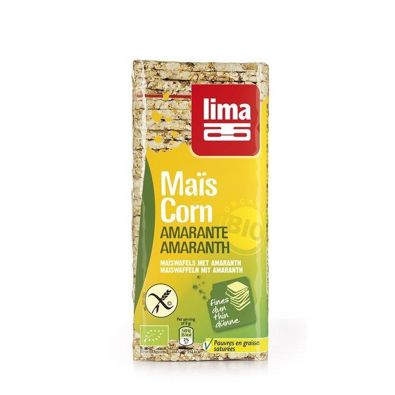Rondele din porumb expandat cu amarant bio 130g Lima