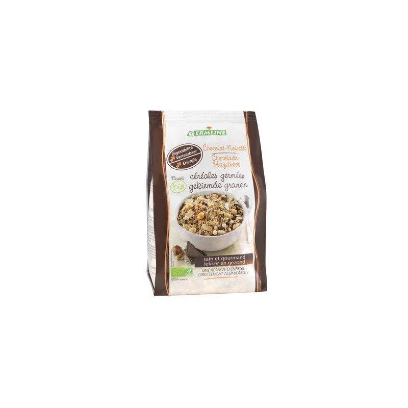 Musli din cereale germinate ciocolata-alune bio 350g Germline