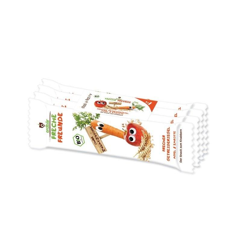 Baton de cereale cu mar si morcov bio 4 x 23g Erdbar