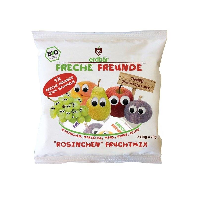 Gustare din mix de fructe bio 5 x 14g Erdbar