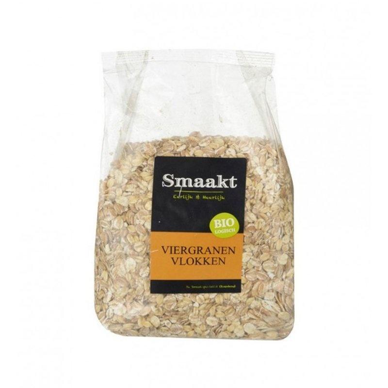 Fulgi din 4 cereale bio 500g SMAAKT
