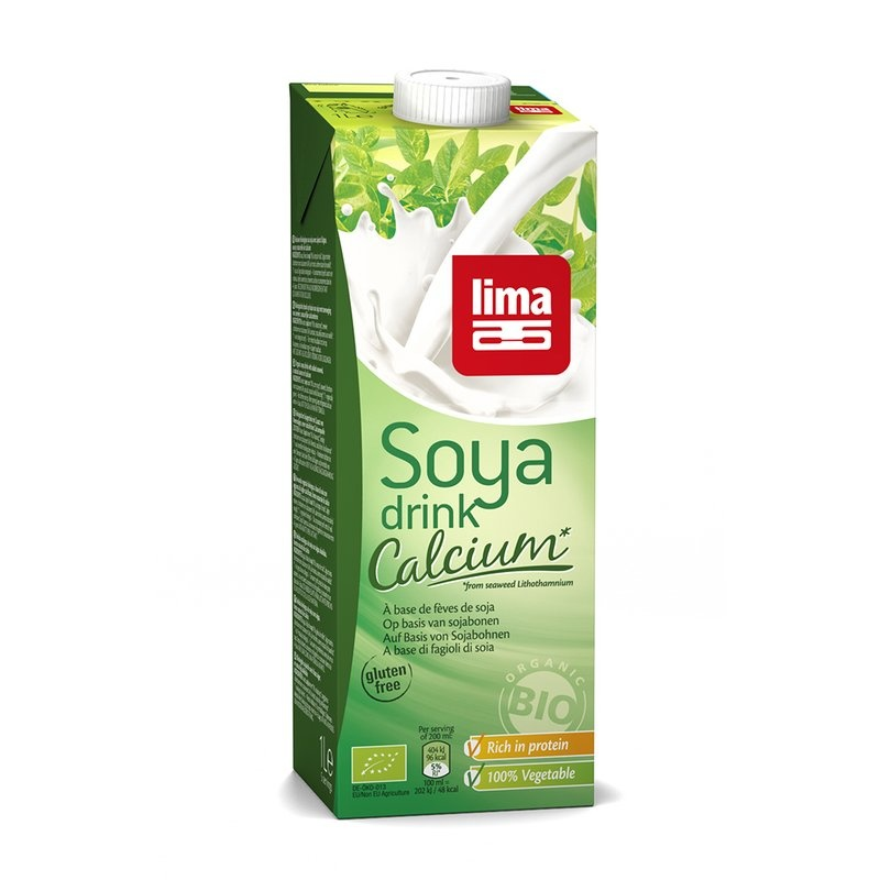 Lapte de soia bio cu calciu, 1L Lima